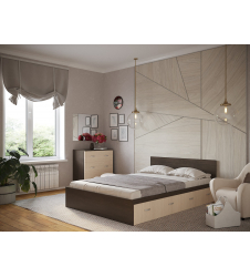 Кровать Ронда с ящиками венге
