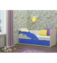 Кровать Дельфин-1 синий