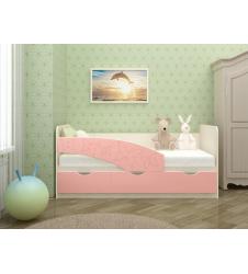 Кровать Бабочки розовая