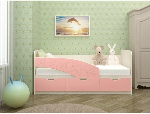 Кровать Бабочки розовые