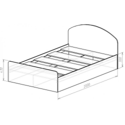 Кровать Виктория венге/дуб