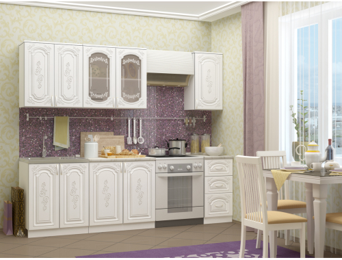 Кухня Лиза-2 белая 2.0 м