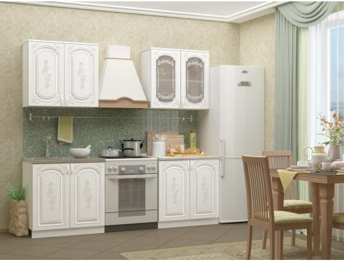 Кухня Лиза-2 белая 1.6 м