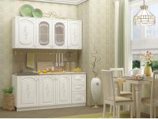 Кухня Лиза-2 белая 1.7 м