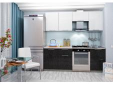 Кухня София черно/белая 2.1 метра