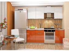 Кухня София оранж/белая 2.1 метра