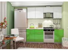 Кухня София зеленая /белая 2.1 метра
