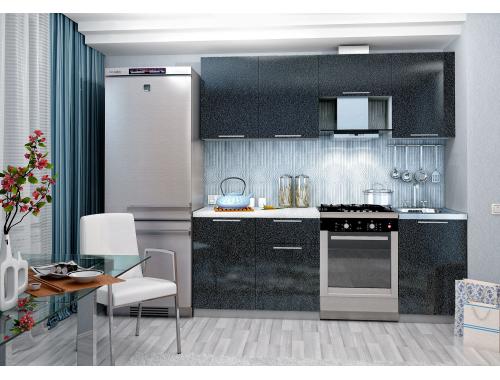 Кухня София черная 2.1 метра