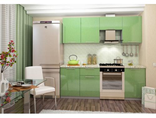 Кухня София зеленая  2.1 метра