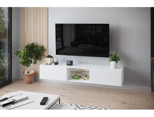 Тумба ТВ -2 белая подвесная