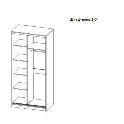 Шкаф купе Равена (1.0 м) ясень