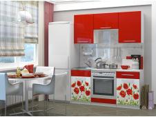 Кухня Маки 1.6 красные