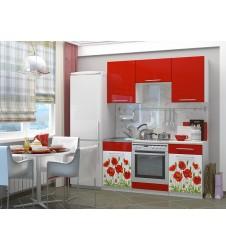 Кухня Маки красные мдф