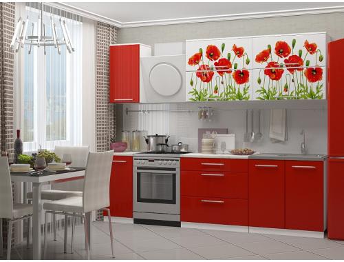Кухня Маки 2.0 красные