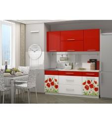 Кухня Маки  красные 1.8  мдф