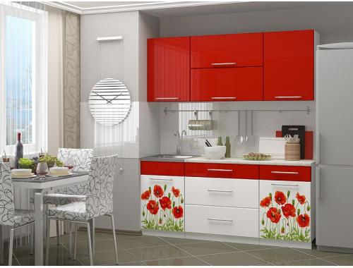 Кухня Маки 1.8 красные