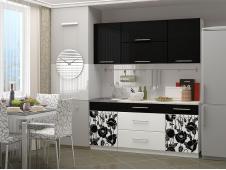 Кухня Маки 1.8 черные