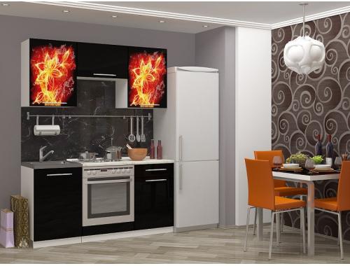Кухня Огненный цветок мдф
