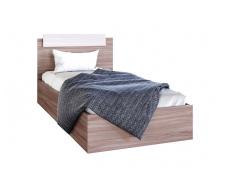 Кровать Эра 0.9 с матрасом ясень