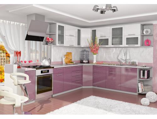 Кухня София Олива (сирень-белый)