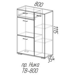 Комод Ника 800 с зеркалом ясень