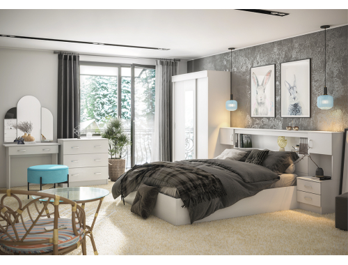 Спальня Бася белая